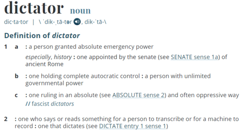 Dictator-Definition