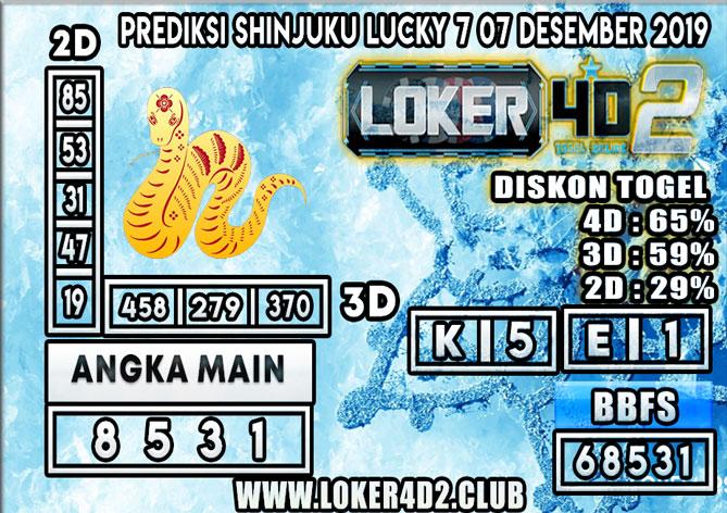 PREDIKSI TOGEL SHINJUKU LUCKY 7 POOLS LOKER4D2 07 DESEMBER 2019