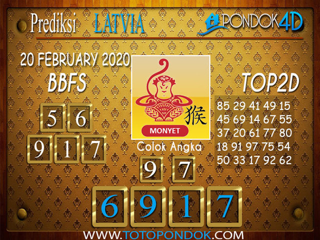 Prediksi Togel LATVIA POOLS PONDOK4D 20 FEBRUARY 2020