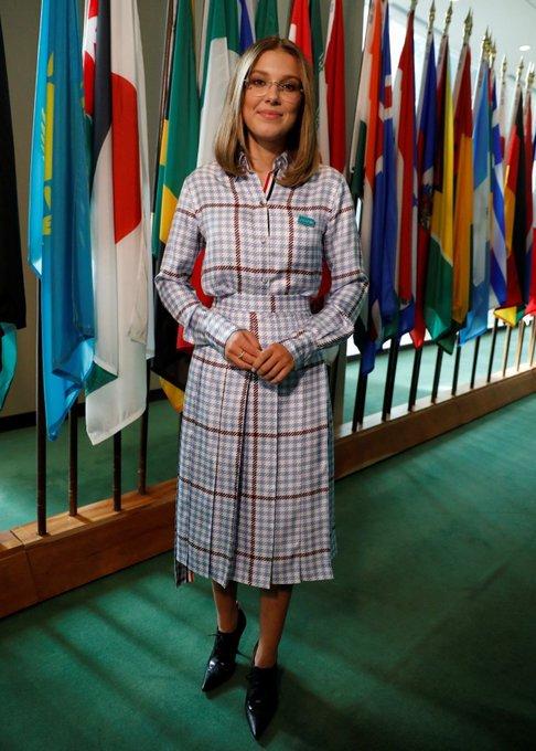 Stranger Things'in Eleven'ı Millie Bobby, UNICEF'in 'Barış ...