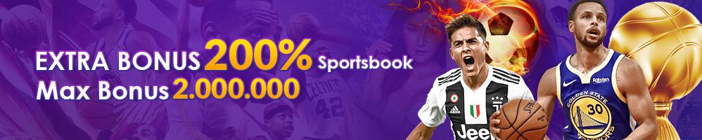 EXTRA BONUS SPORTSBOOK 200%