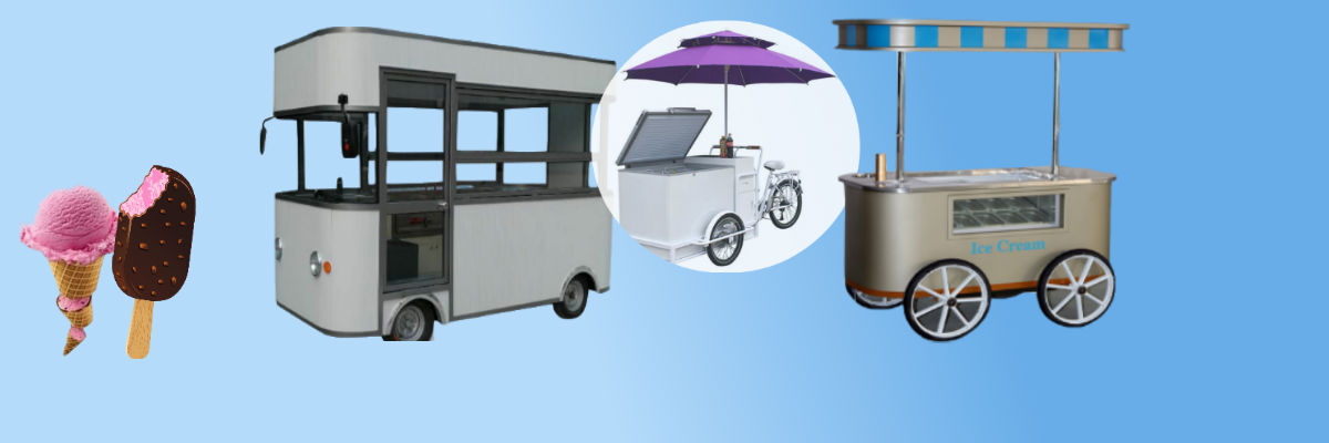 Exportimes Announces to Supply Ice Cream Display Cart & Ice Cream Bike for Sale & Delivery of Ice Creams