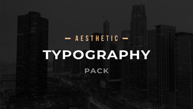 Aesthetic Typography Pack 33008355 - Project for After Effects (Videohive)