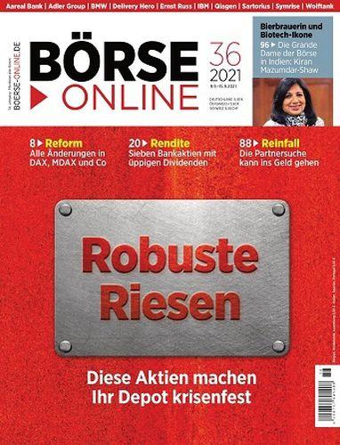 Cover: Börse Online Magazin No 36 vom 09  September 2021