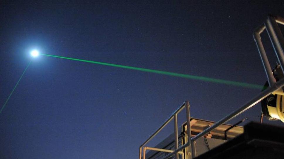 NASA: finalmente riflesso Laser sulla Luna per la prima volta.