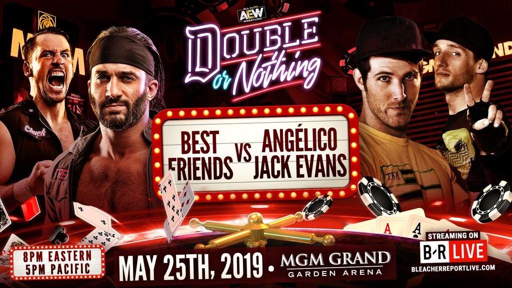 Best Friends (Trent y Chuck Taylor) vs. Los Güeros del Cielo (Angelico y Jack Evans)