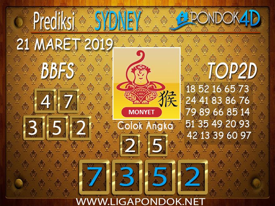 Prediksi Togel  SYDNEY PONDOK4D 21 MARET 2019