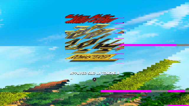 Title screen with OpenGL rendering.