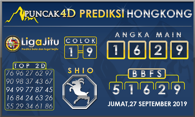 PREDIKSI TOGEL HONGKONG PUNCAK4D 27 SEPTEMBER 2019