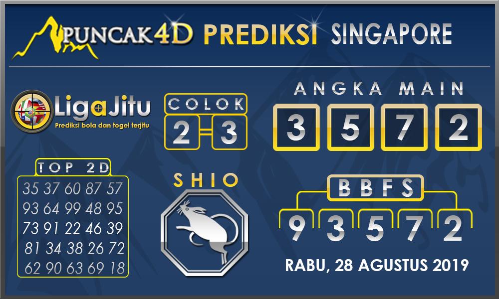 PREDIKSI TOGEL SINGAPORE PUNCAK4D 28 AGUSTUS 2019