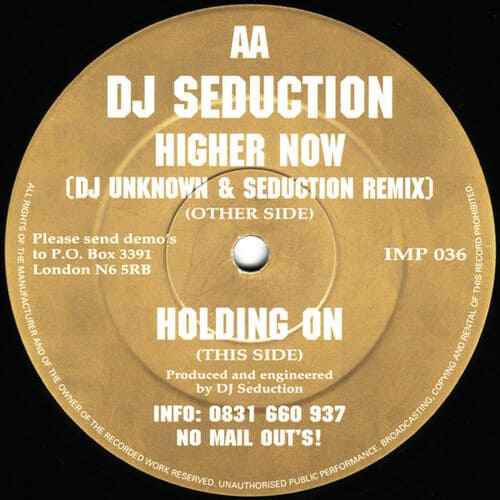 Download DJ Seduction - Higher Now Remix / Holding On mp3
