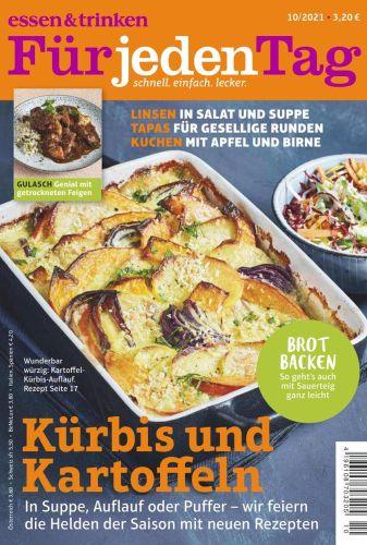 Cover: Essen und Trinken für jeden Tag Magazin Oktober No 10 2021