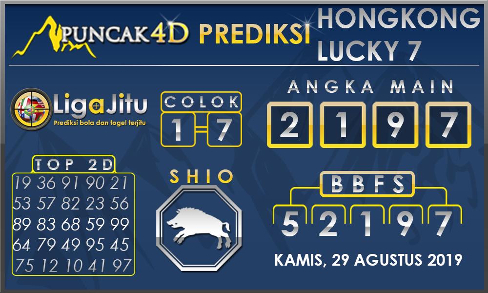 PREDIKSI TOGEL HONGKONG LUCKY7 PUNCAK4D 29 AGUSTUS 2019