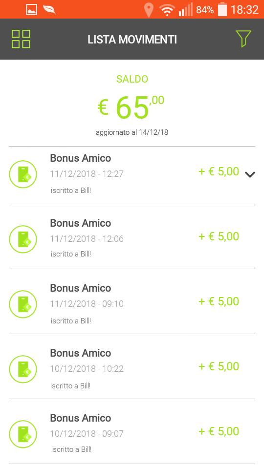 Bill SisalPay Bill (App italiana di SisalPay) €5,00 subito + €5,00 se invitato + €5,00 ogni invito [scadenza 30/09/2020] Screenshot-2018-12-14-18-32-56