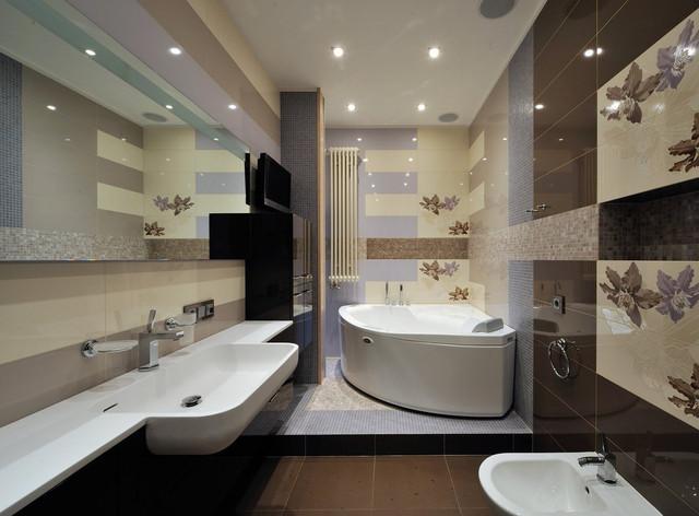 Кофейная плитка для ванной комнаты