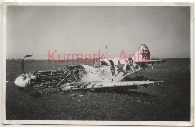 Q615-Foto-Wehrmacht-Luftwaffe-Flugzeug-Me109-Beute-Russland