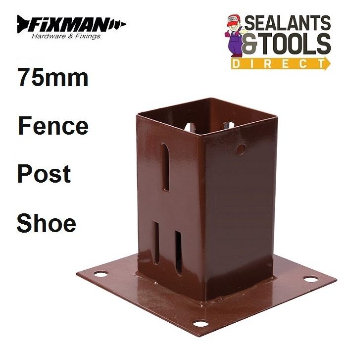 Fixman-75mm-fence-Post-shoe-Bolt-down-376663