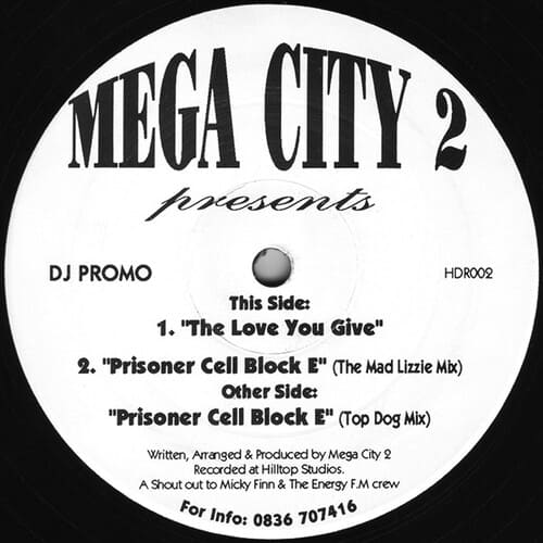 Download Mega City 2 - Prisoner Cell Block E / The Love You Give mp3