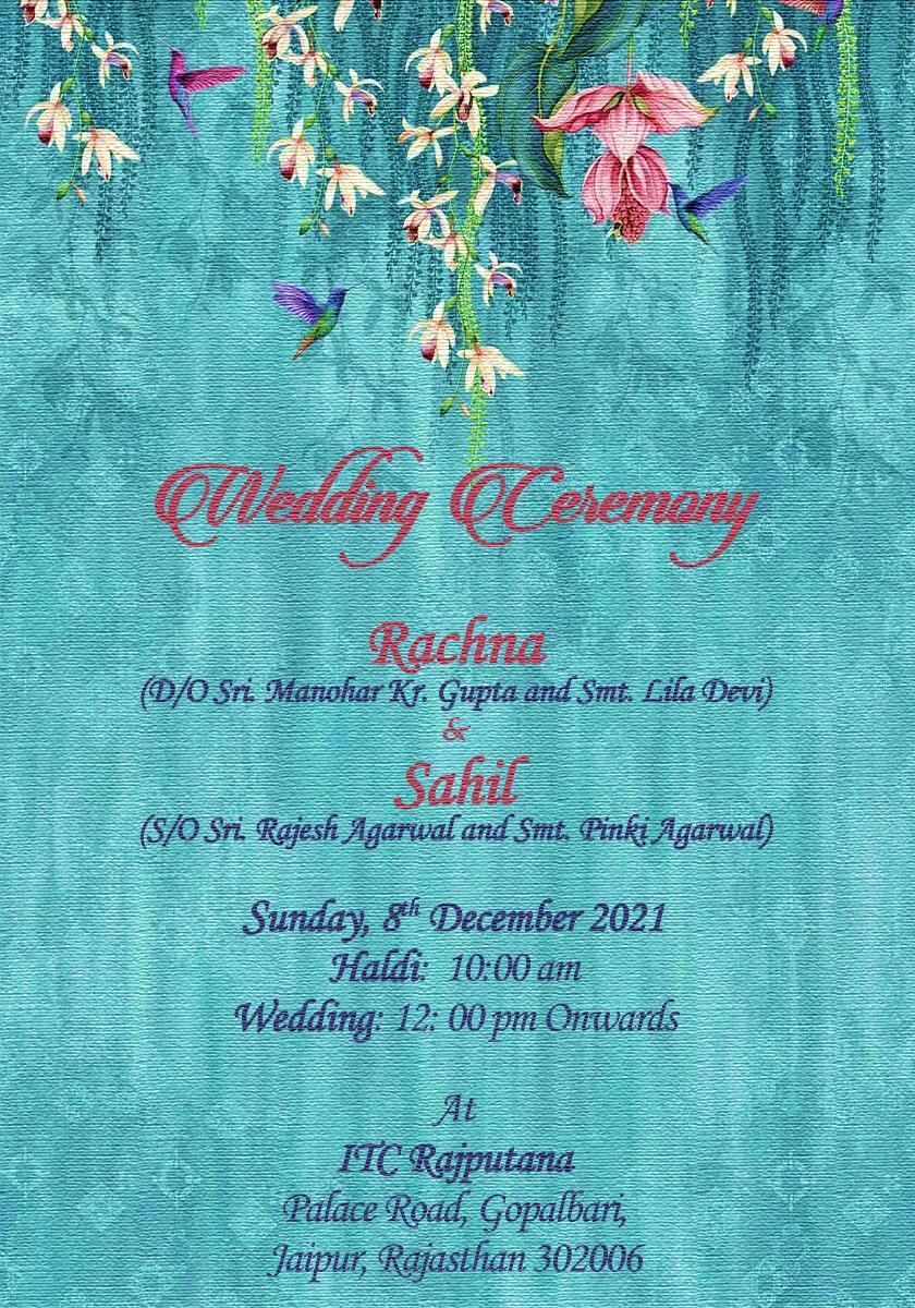 Whastapp wedding ecard PDF