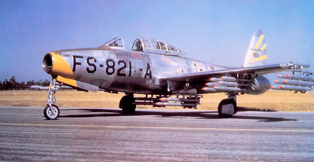 31st-FEW-Republic-F-84-G-1-RE-Thunderjet-51-821