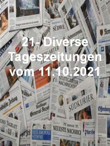 Cover: 21- Diverse Tageszeitungen vom 11  Oktober 2021