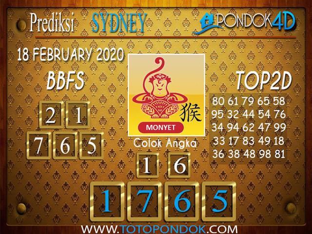 Prediksi Togel SYDNEY PONDOK4D 18 FEBRUARY 2020