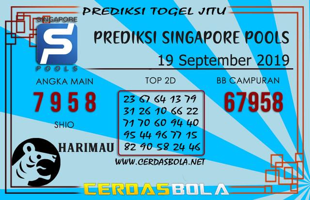 "Prediksi Togel ""SINGAPORE"" CERDASBOLA 19 SEPTEMBER 2019"