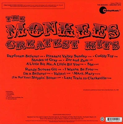 The Monkees – Greatest Hits, 1969 (Friday Music 2011)