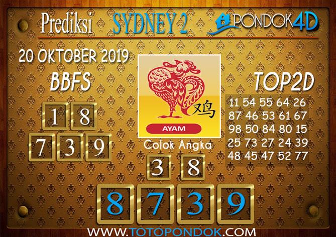 Prediksi Togel SYDNEY 2 PONDOK4D 20 OKTOBER 2019