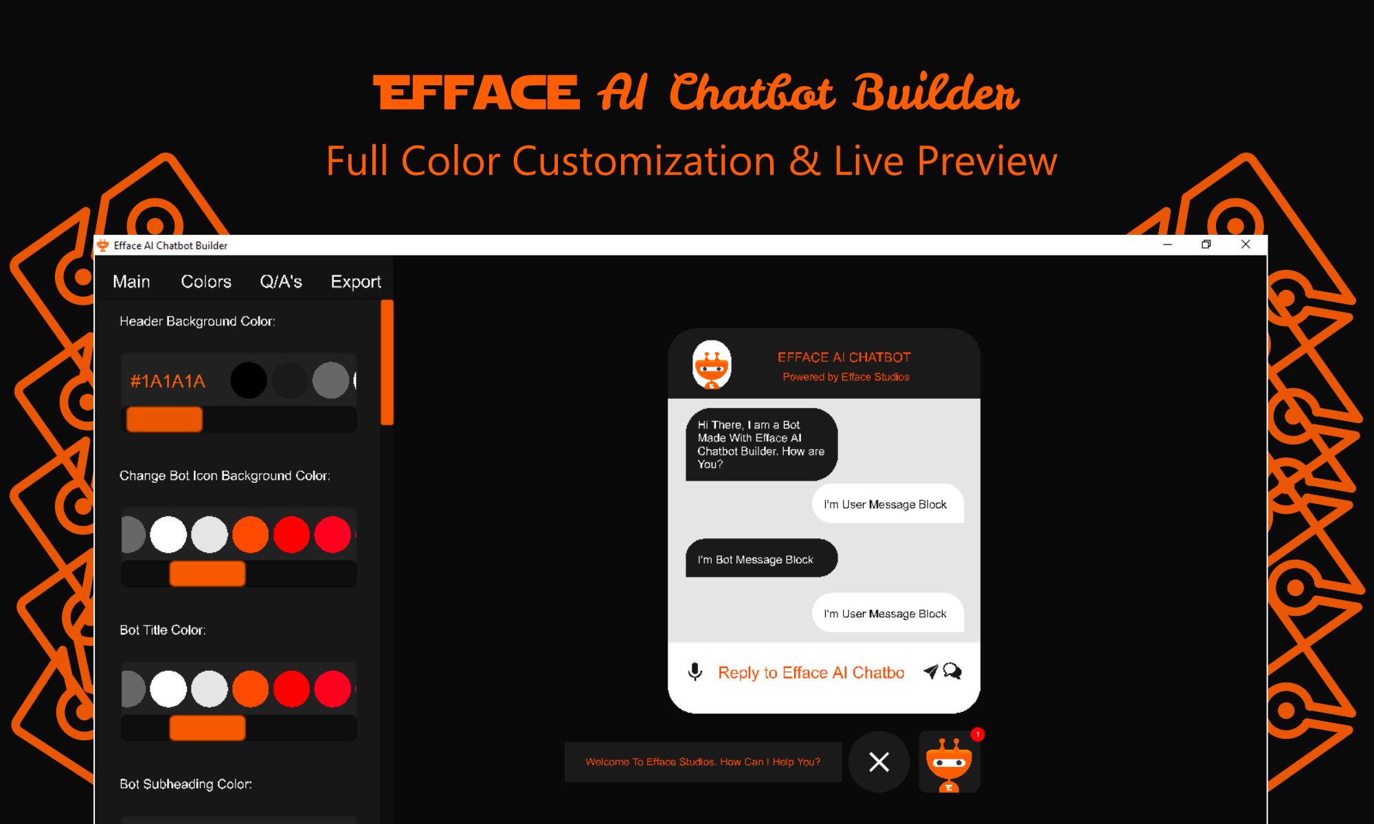 Efface AI Chatbot Builder - Wordpress Chatbot Builder - 3