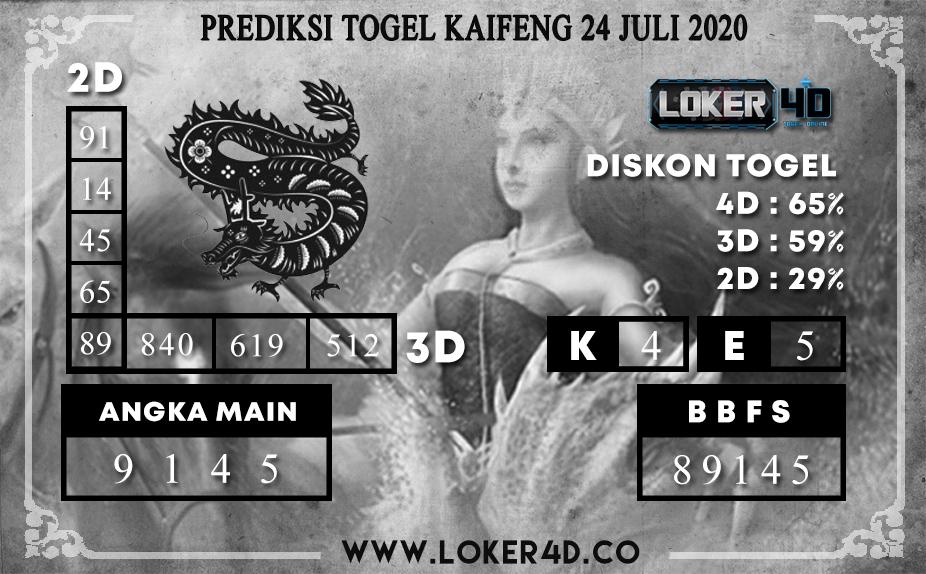 PREDIKSI TOGEL LOKER4D KAIFENG 24 JULI 2020