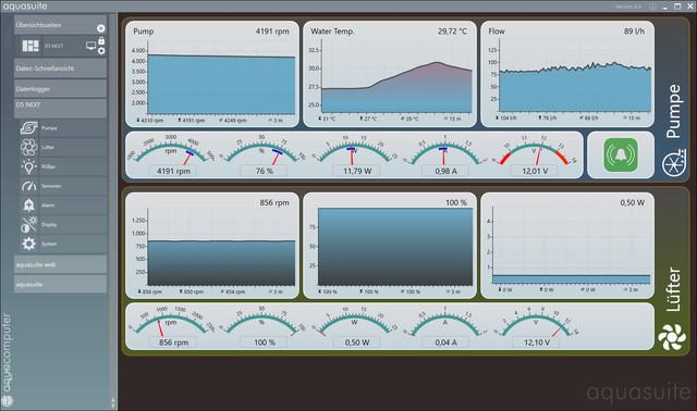 Aquacomputer D5 Next - Aquasuite X.4