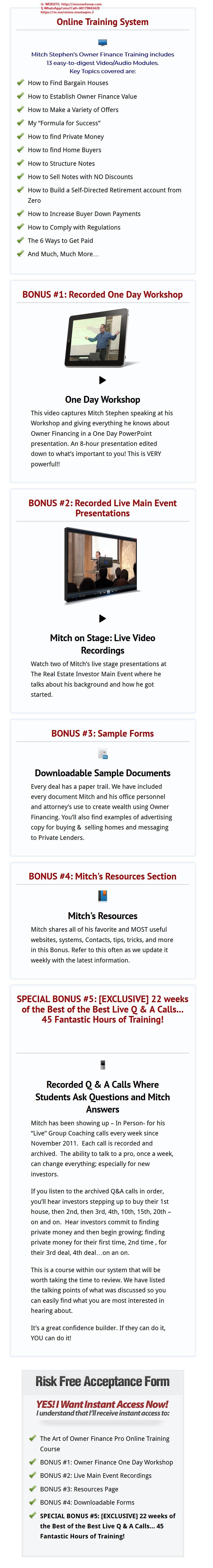 Mitch Stephen - Art of Owner Finance Pro(Enjoy Free BONUS Personal Finance for Dummies)