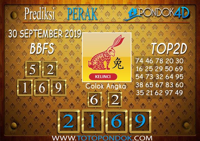 Prediksi Togel PERAK PONDOK4D 30 SEPTEMBER 2019