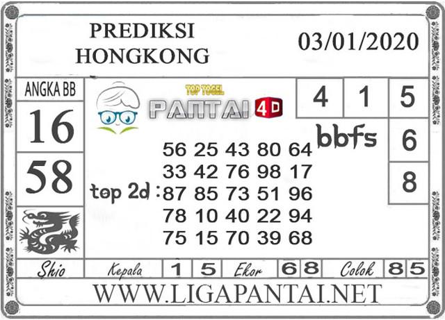 PREDIKSI TOGEL HONGKONG PANTAI4D 03 JANUARI 2020