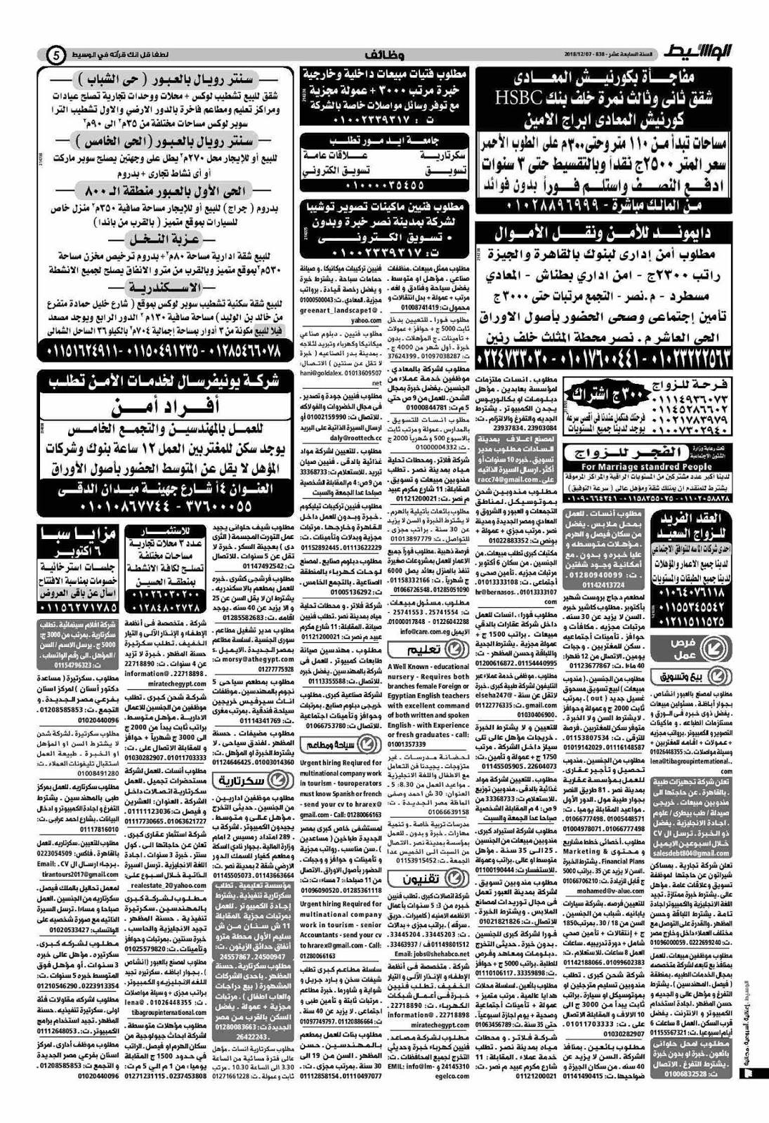 وظائف جريدة الوسيط