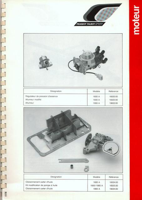 Catalogue PTS pièces compétition - 205 GTI 1600-1900 gr. N/A PTS-Moteur-8