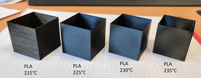 Ansteigende Temperatur Test Cube