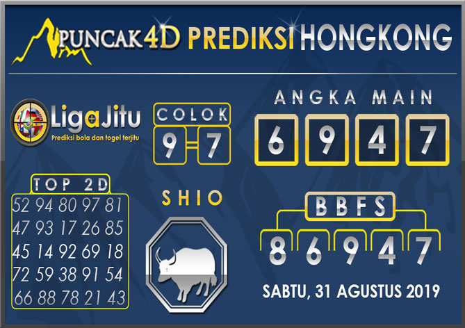 PREDIKSI TOGEL HONGKONG PUNCAK4D 31 AGUSTUS 2019