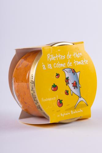 Rillettes de thon a la creme de tomate (rillettes de ton cu sos de rosii) 90g