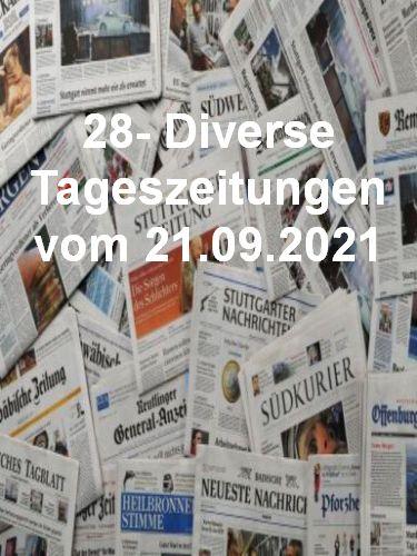 Cover: 28- Diverse Tageszeitungen vom 21  September 2021