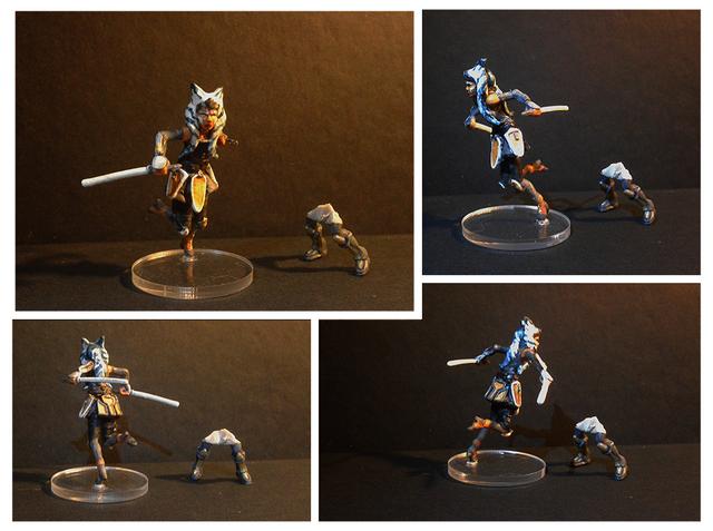 Ahsoka Tano - Imperial Assault FFG STAR WARS miniature modification new legs taller