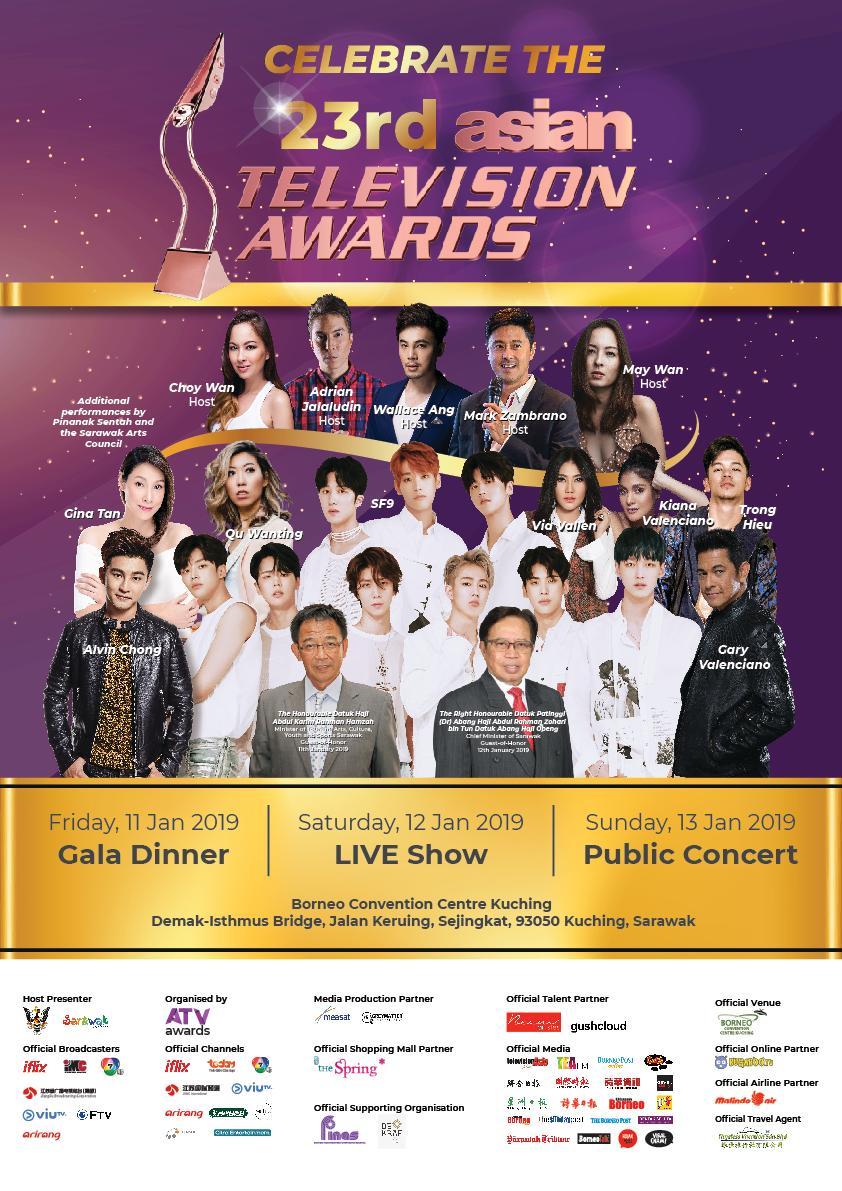 23rd Asian Television Awards 2019 @ BCC Kuching (11-13/1/19