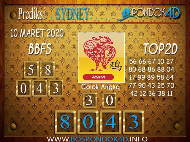 Prediksi Togel SYDNEY PONDOK4D 10 MARET 2020