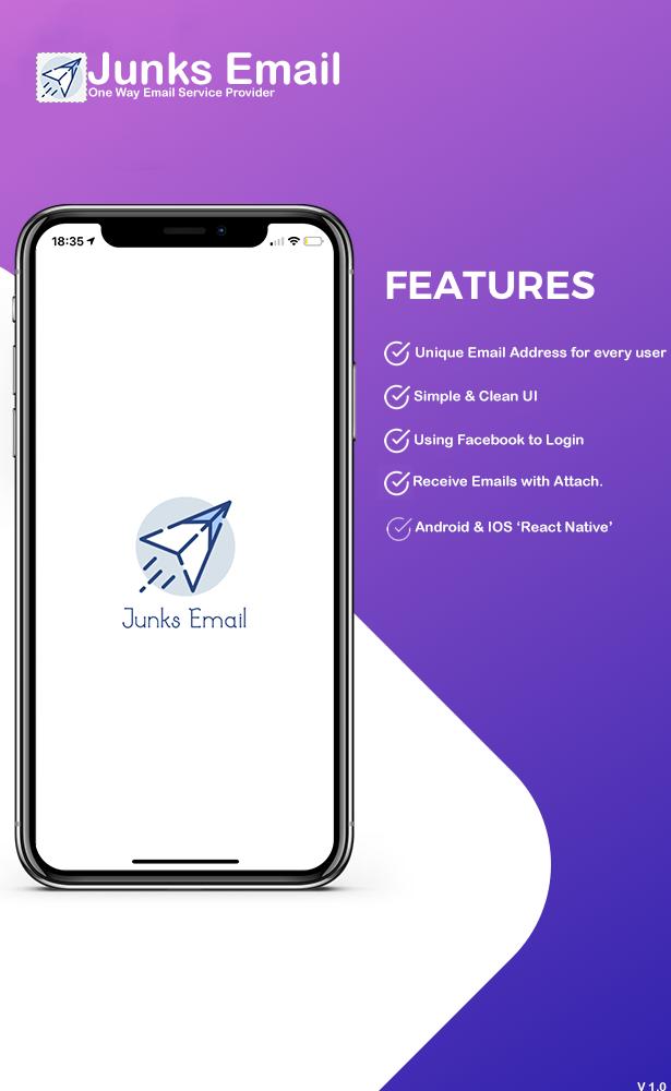 JunksEmail - React Native App - 2