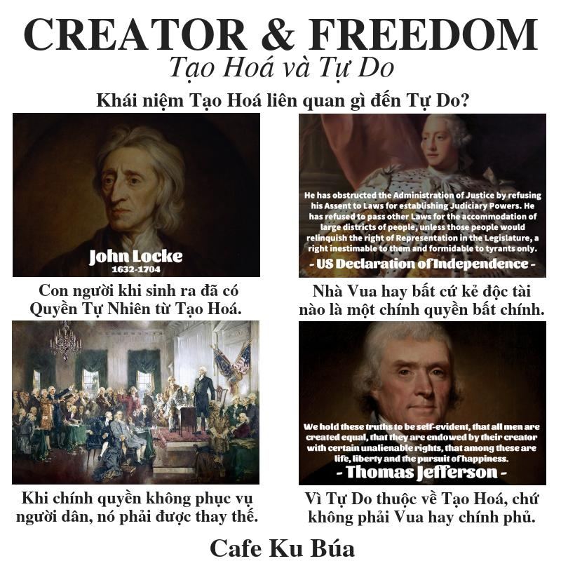 CREATOR AND FREEDOM – TẠO HOÁ VÀ TỰ DO: QUYỀN TỰ NHIÊN