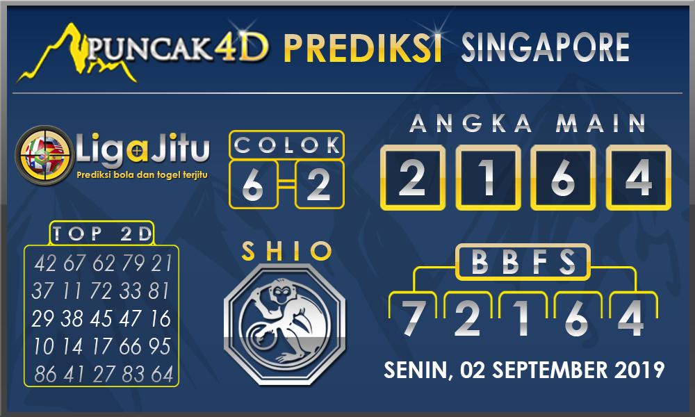PREDIKSI TOGEL SINGAPORE PUNCAK4D 02 SEPTEMBER 2019