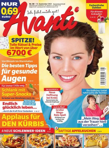 Cover: Avanti Frauenmagazin No 38 vom 15  September 2021