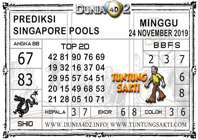 """Prediksi Togel """"SINGAPORE"""" DUNIA4D2 24 NOVEMBER 2019"""