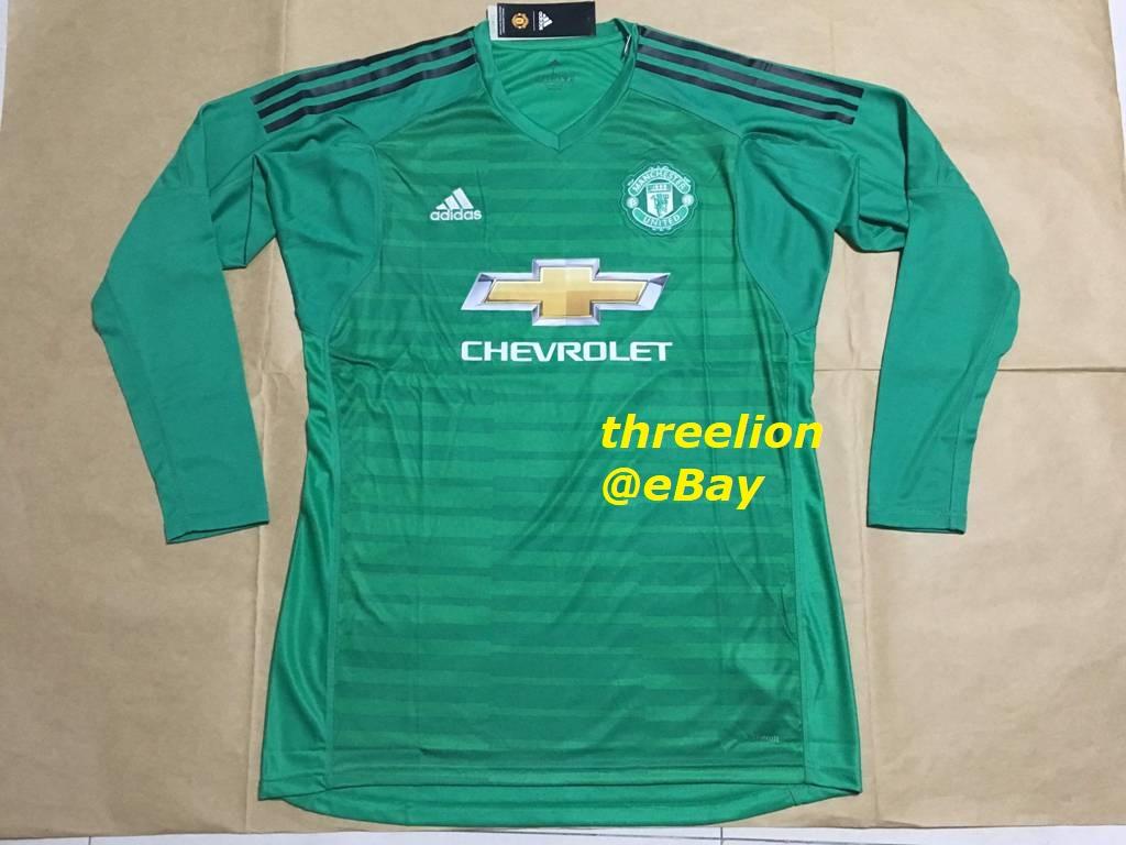 3feec57209c ... official CLIMALITE Home Green Long-Sleeved Goalkeeper / Goalie / GK  Soccer Jersey / Football Shirt / Calcio Maglia Trikot of Manchester United  Football ...